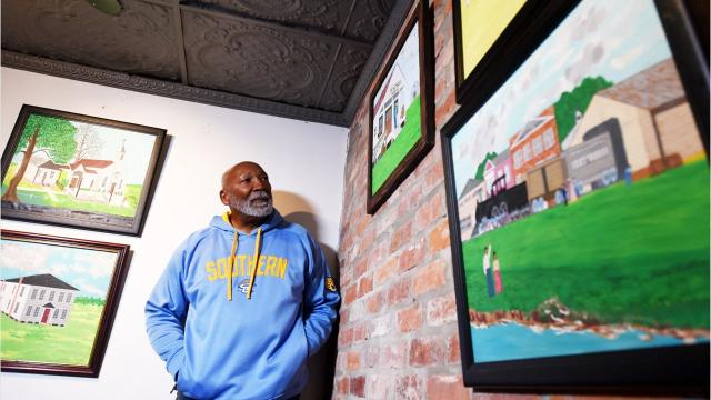 Folk artist Wendell R. Wilson is the featured artist of Southern University Museum of Art's Black History Month exhibition.