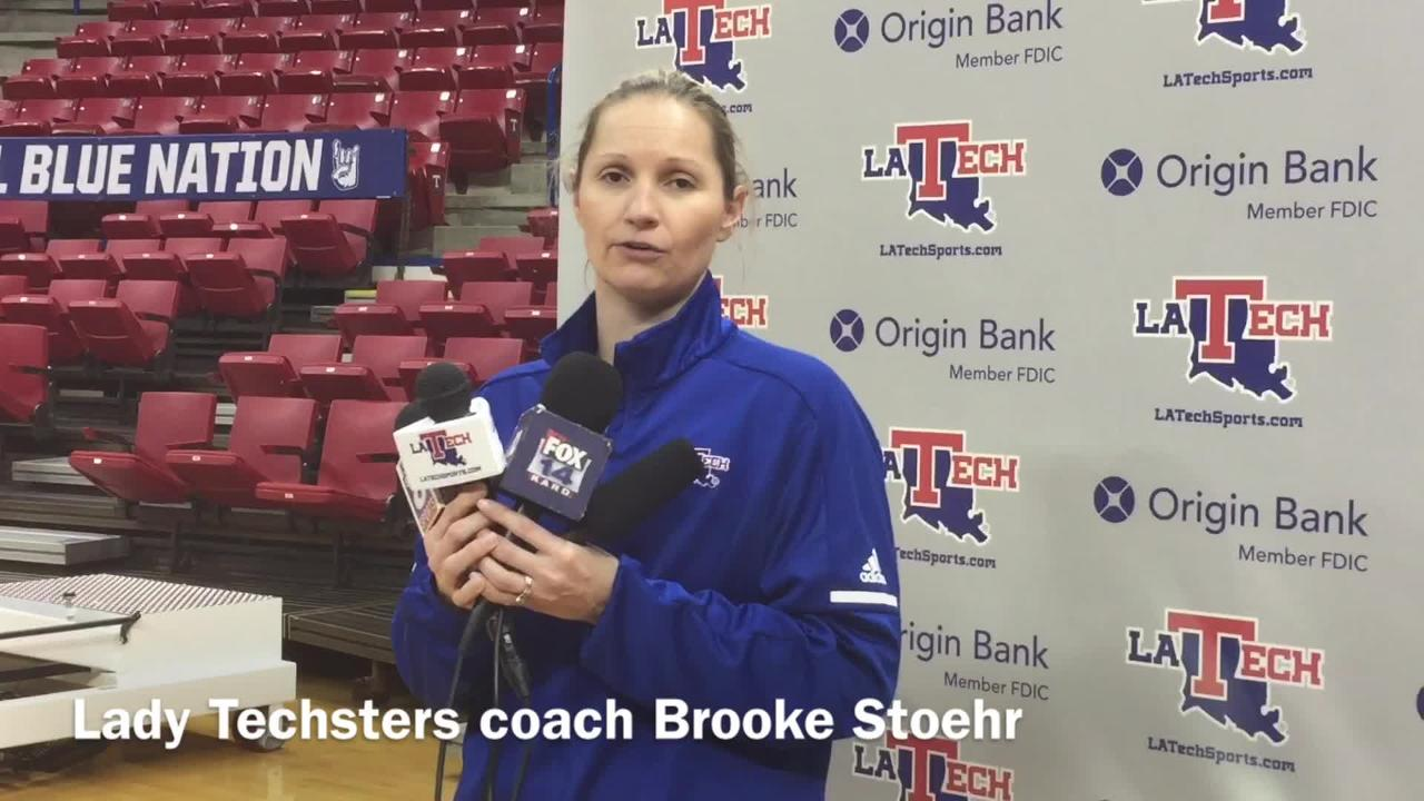 Louisiana Tech women's hoops coach Brooke Stoehr explained why it was important to have Kierra Anthony come off the bench versus Western Kentucky.