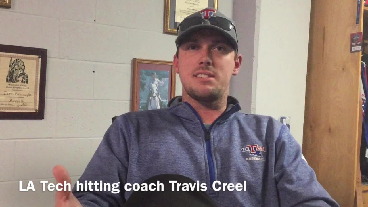 Louisiana Tech new hitting coach and recruiting coordinator Travis Creel details the challenges and what he likes about having so many new players for his first season in his new role.