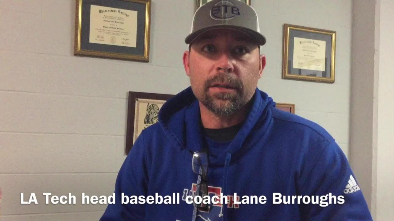 Louisiana Tech head baseball coach Lane Burroughs describes what he's seen out of Travis Creel since taking over hitting coach, recruiting coordinator role with team.