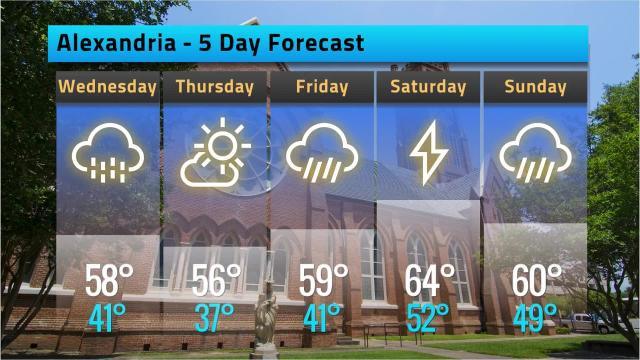 Here is your weather forecast for Alexandria for Tuesday, Feb. 6