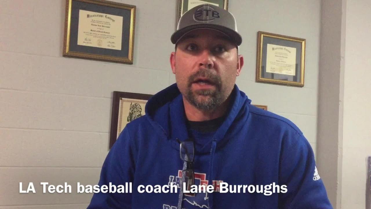Louisiana Tech head baseball coach Lane Burroughs explains why he decided on Cory Barton as new pitching coach this summer.