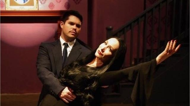 """Lisa Irion of Lafayette, a Cher tribute artist, joins the Abbey Players' production of """"The Addams Family Musical."""""""