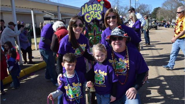 Pre-Kindergarten students at Our Lady of Prompt Succor School held their annual Mardi Gras parade on 21st street in front of the school Thursday afternoon.