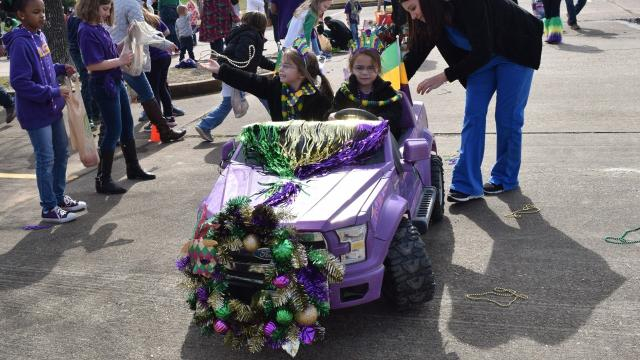 St. Frances Cabrini School's Pre-Kindergarten and Kindergarten classes held their annual Mardi Gras Parade Friday, Feb. 9, 2018.