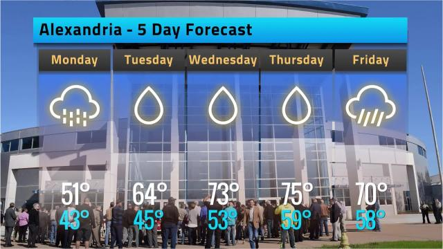 Here is your Alexandria weather forecast for Sunday, Feb. 11
