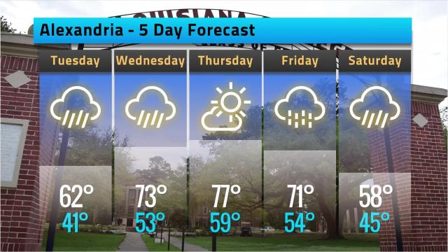 Here is your weather forecast for Alexandria for Monday, Feb. 12
