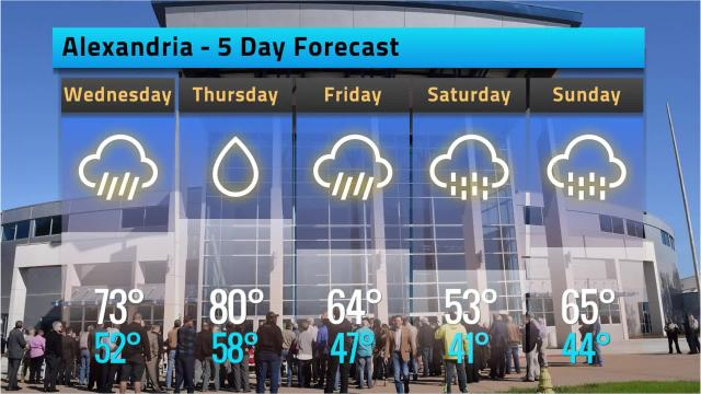 Here is your Alexandria weather forecast for Fat Tuesday, Feb. 13