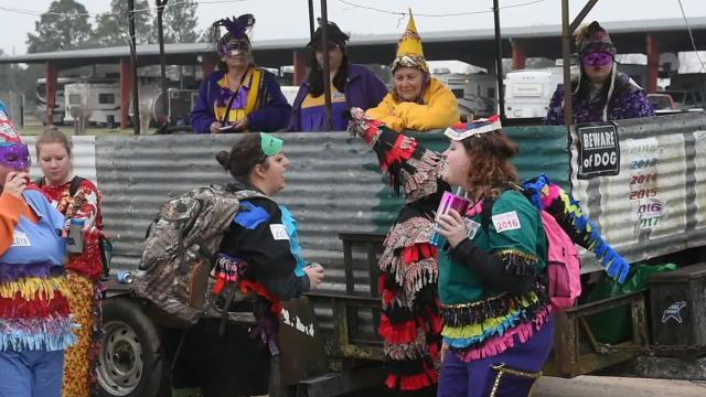 Dancing at the Eunice Mardi Gras