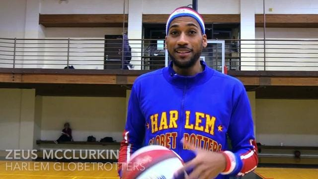 Zeus McClurkin of the Harlem Globetrotters talks about his career with the famous team.