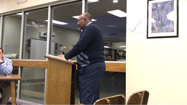 Community members voiced concerns about a MLK Jr. Middle School relocating to a new campus that will be built behind Wossman.
