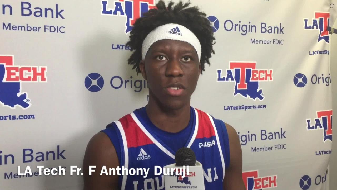 Louisiana Tech freshman forward Anthony Duruji shares his mentality leading up to and during the game versus UAB.