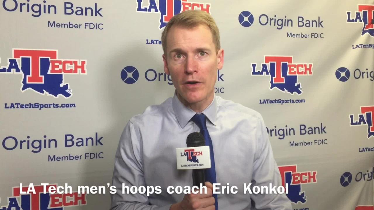 Louisiana Tech men's basketball coach Eric Konkol shares how the team has won six of its last eight games in conference play.