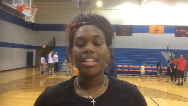 Kaylie Mitchell talks about the Lady Cowboys impressive first round playoff win Thursday night.