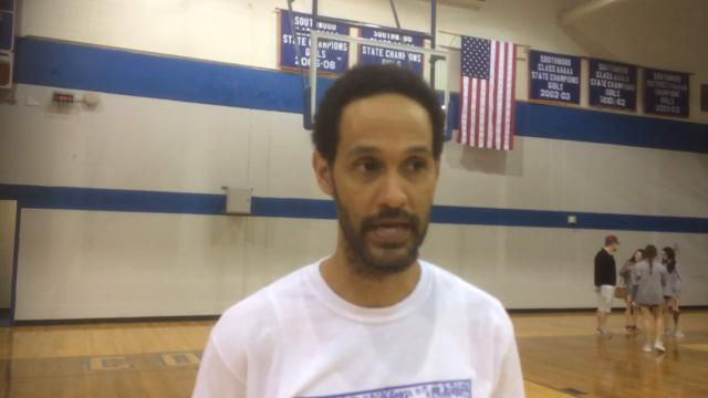 Southwood girls basketball coach Stephen Harshaw talks about first round playoff win