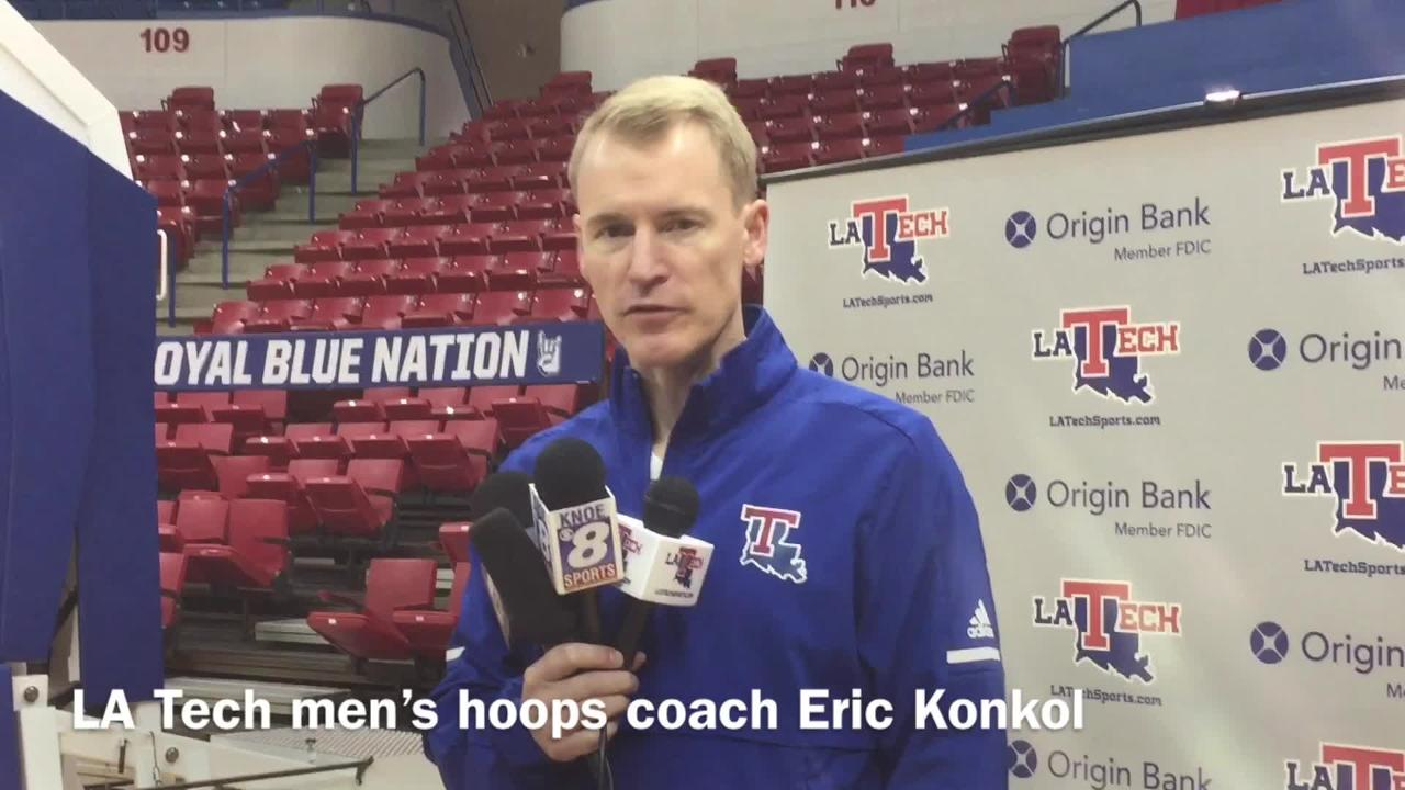 Louisiana Tech men's basketball coach Eric Konkol lists off what he liked about Amorie Archibald coming out of high school.
