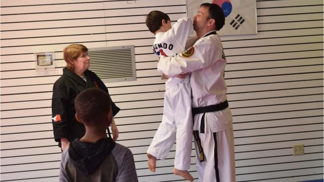A free Safety Day awareness workshop was held at Master Rousseau's Taekwondo were participants learned how to identify a stranger, defense techinques and when to call 911.