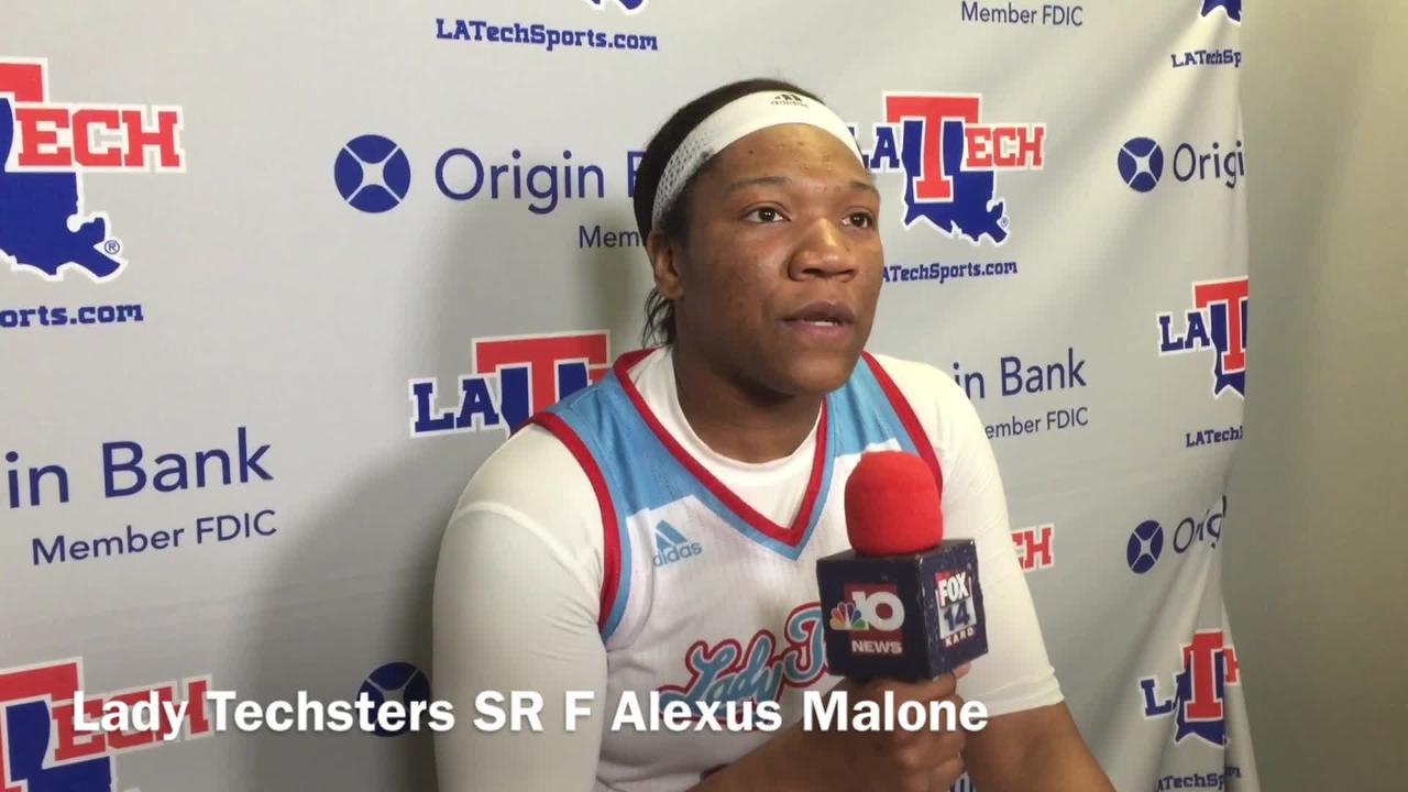 Louisiana Tech women's team senior forward Alexus Malone said the Techsters thought about the last meeting with USM heading into today's game.