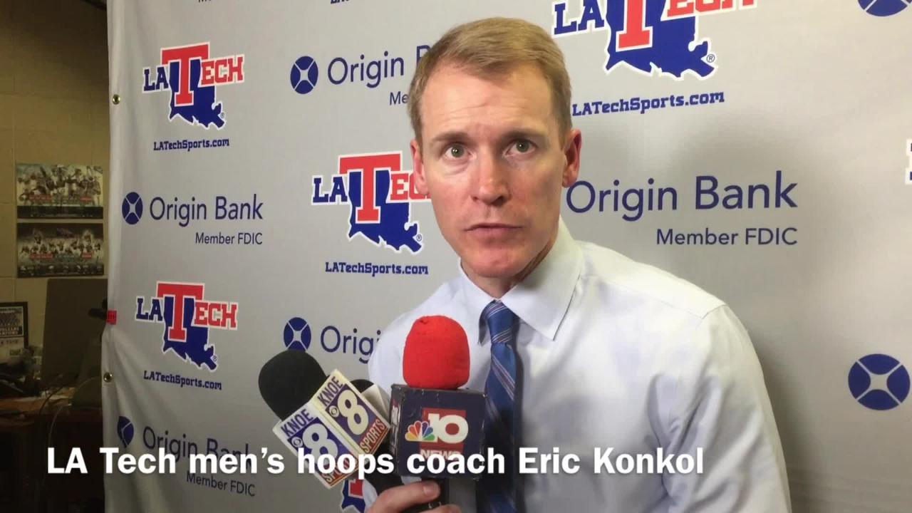 Louisiana Tech men's hoops coach Eric Konkol discusses Middle Tennessee gaining the early advantage with offensive rebounds and second-chance points.