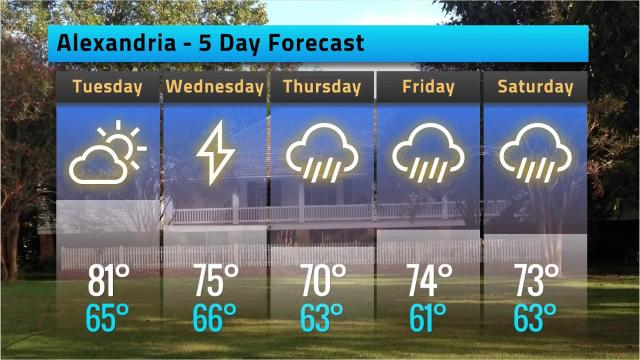 Here is your weather forecast for Alexandria for Monday, Feb. 19