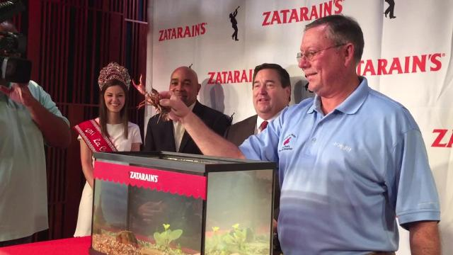 A crawfish from the Atchafalaya Basin was brought to New Orleans and pardoned by Lt. Gov. Nungesser and then released into Bayou Segnette State Park. This year's crawfish is named Emile, in honor of Emile Zatarain, the founder of the Louisiana-based company Zatarain's.