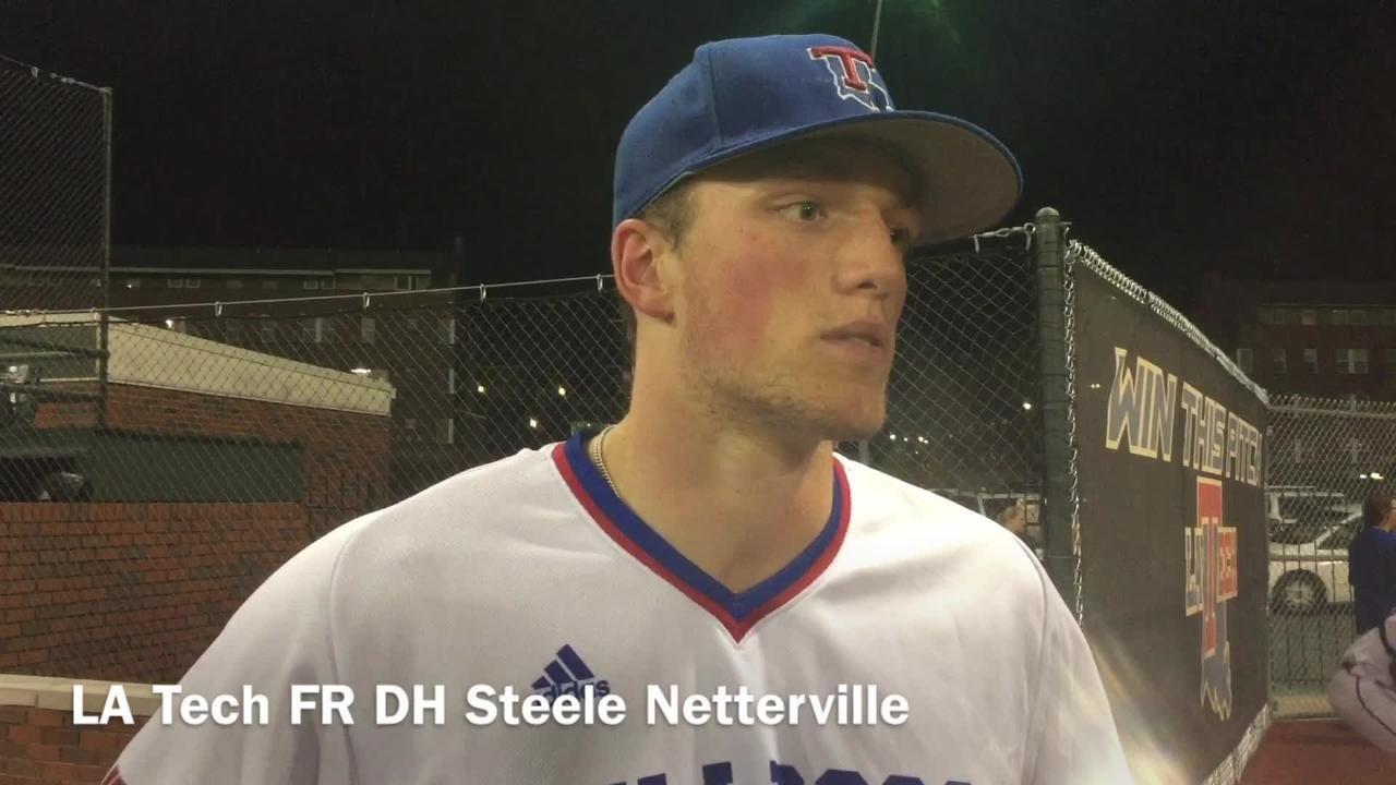 Louisiana Tech freshman designated hitter Steele Netterville liked the offensive gameplan the offense had versus McNeese State.