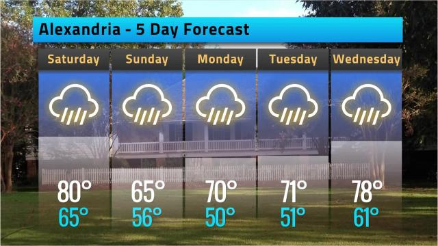 Here is your weather forecast for Alexandria for Friday, Feb. 23