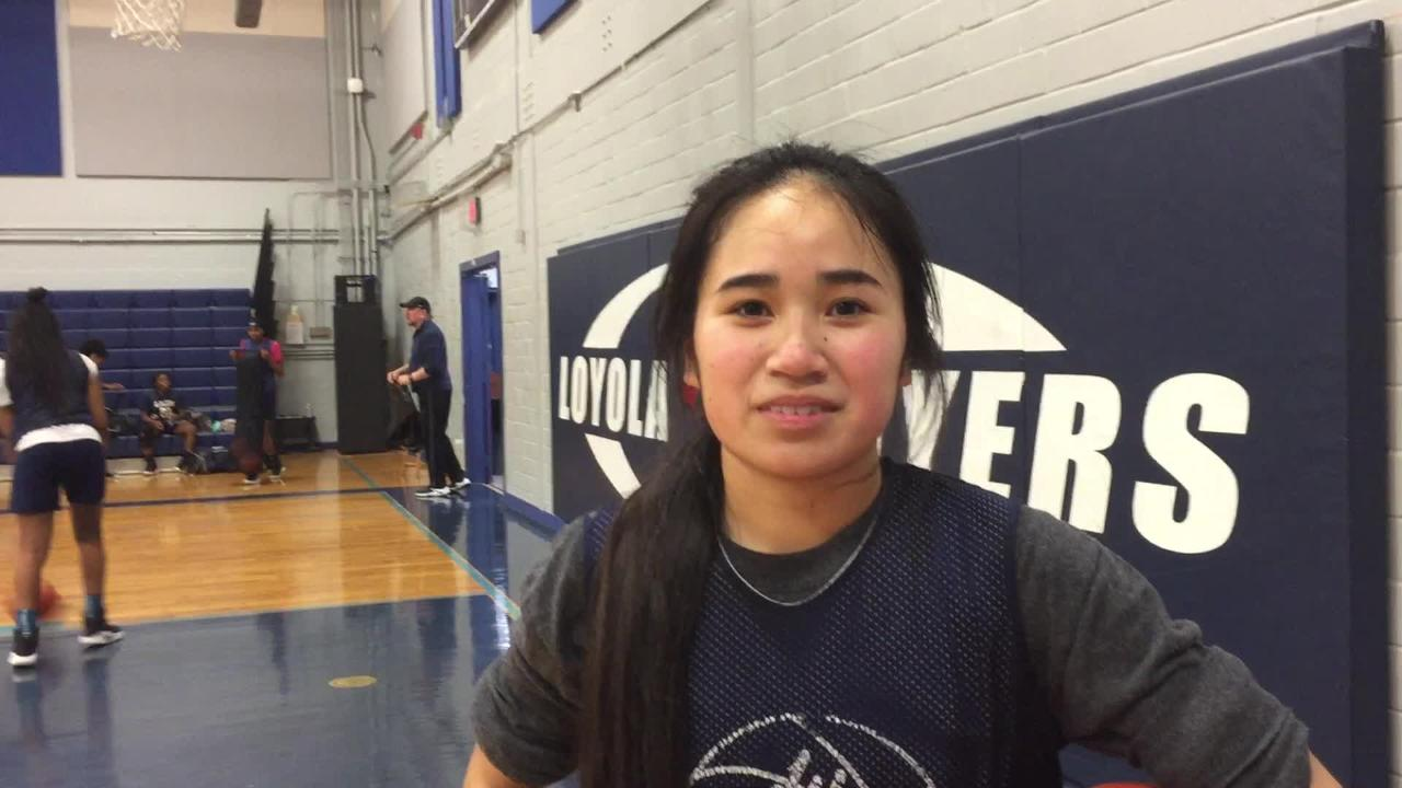 Loyola's Sarah Siharath talks about the Flyers in the LHSAA semifinals.