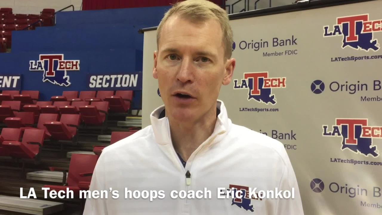 Louisiana Tech men's basketball coach Eric Konkol discusses how disappointment this season has been for the team.