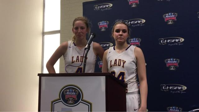 Anacoco seniors Korie Kreps and Cammy Hooks talk about returning to the Class B finals.