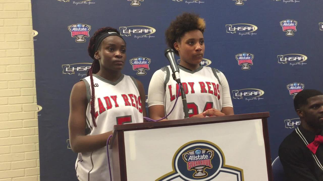 North Caddo's Destiny Rice and teammates talk about advancing to the LHSAA 2A title game.