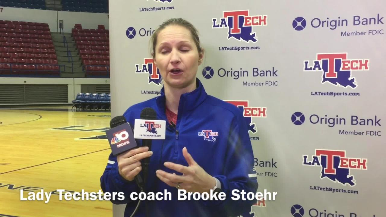 Lady Techsters coach Brooke Stoehr breaks down how her team has gotten hot on the road the last few weeks.