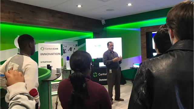 Students from three high schools learned about how CenturyLink is creating new technologies and managing data on Thursday at the company's corporate headquarters.