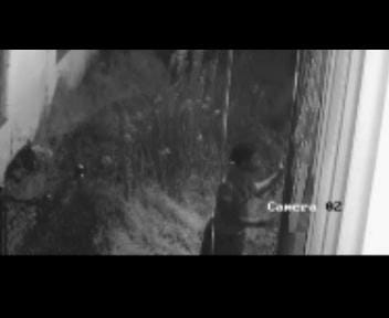 Surveillance video of a burglary that happened at Lee's Transmission.