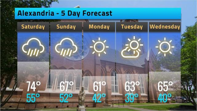 Here is your Alexandria weather forecast for Friday, March 9