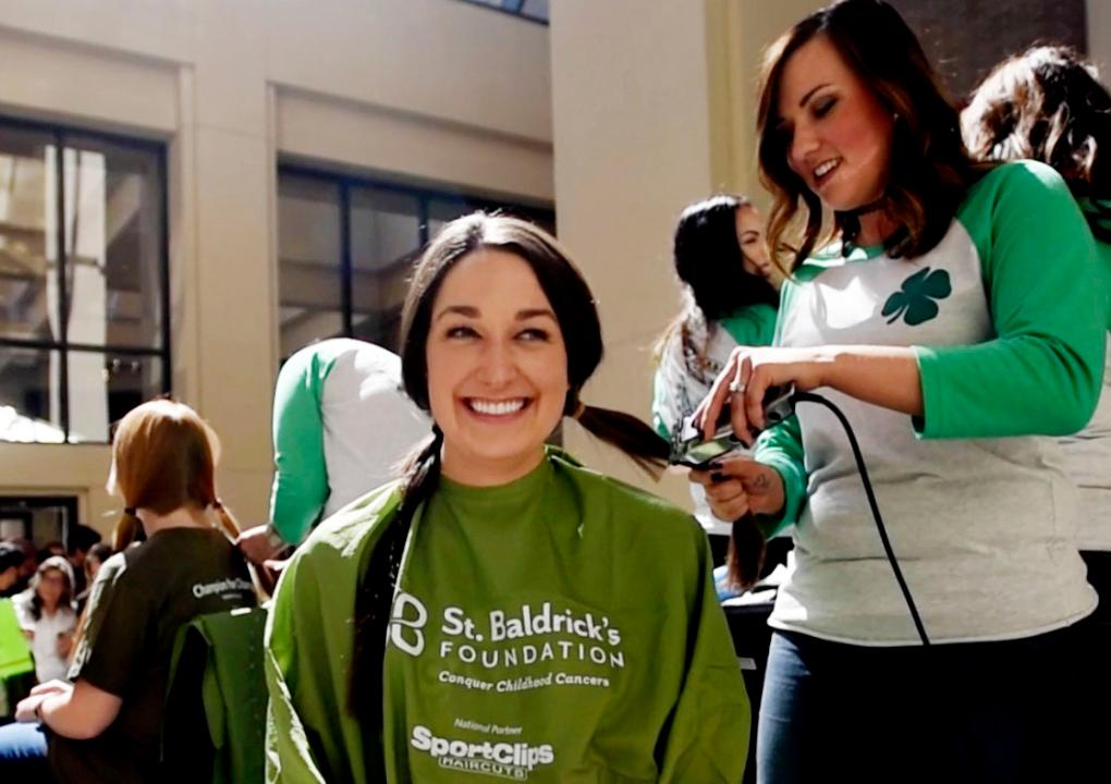 The annual St. Baldrick's Foundation head-shaving Geaux Bald event Friday at LSU Health Shreveport raises funds for childhood cancer research.