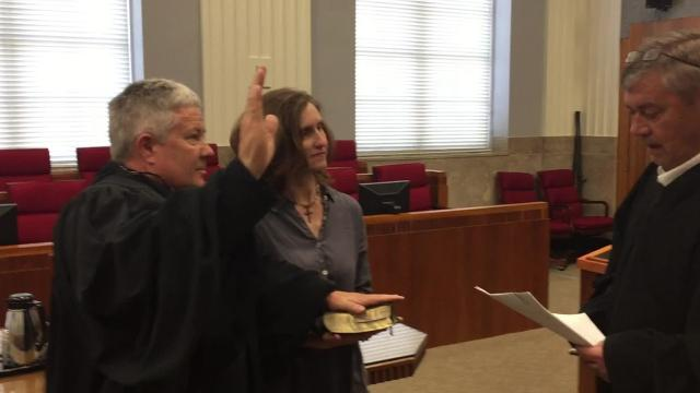 Terry Doughty of Rayville became Louisiana's newest U.S. district judge after taking the oath of office administered Friday by his friend 2nd Circuit Court of Appeal Judge Jimbo Stephens.
