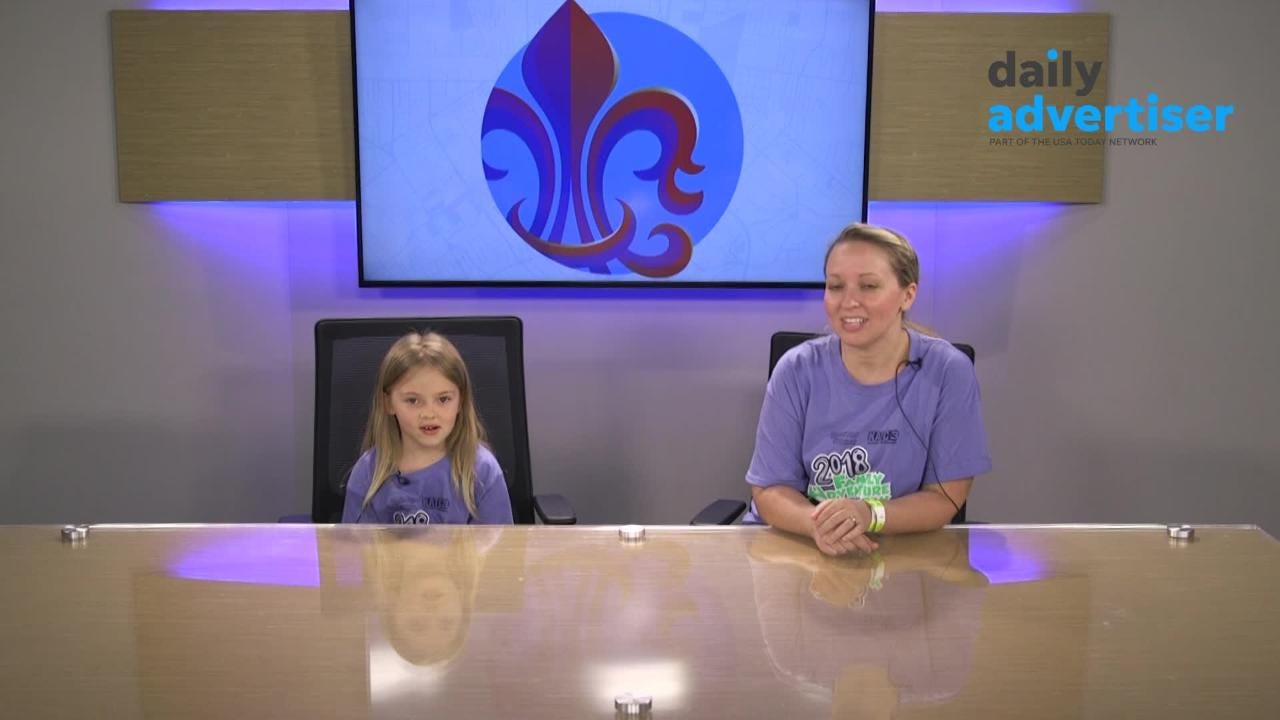 Saturday, The Daily Advertiser opened its Digital Studio for kids and their parents for Family Adventure Day which benefits The Healing House. Everyone got a chance to try reading from the teleprompter.