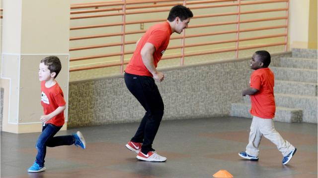 Through the PlayEm Sports, children at local daycares and childcare facilities learn motor skills, hand-eye coordination and more through weekly exercise classes.