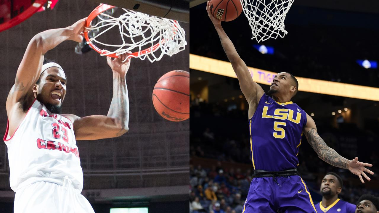 It's a basketball matchup that doesn't happen often: The Cajuns and the Tigers will face off in the first round of the NIT this week in Baton Rouge. How do the two schools stack up against each other? Kevin Foote and James Bewers break it down.