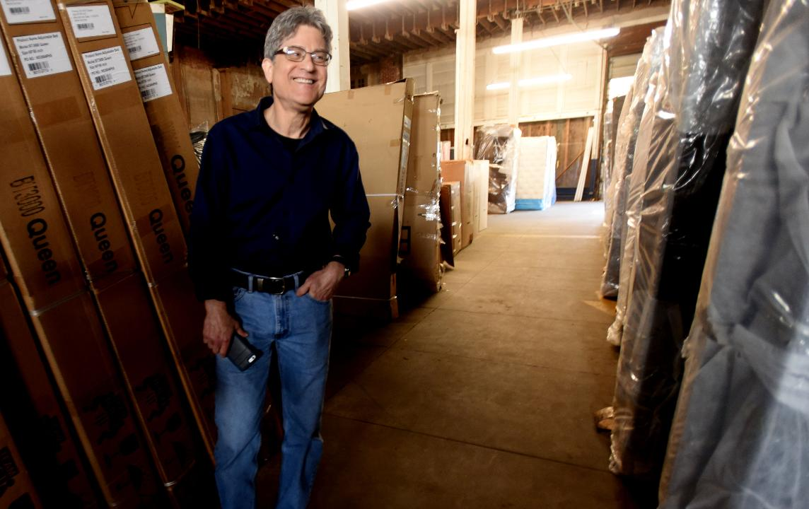 Randy Greengus is the owner of Sun Furniture on Texas Ave. which is closing after 68 years.