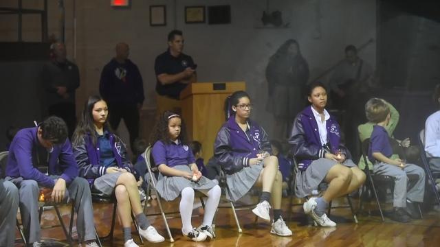 Program held Wednesday in the school gymnasium