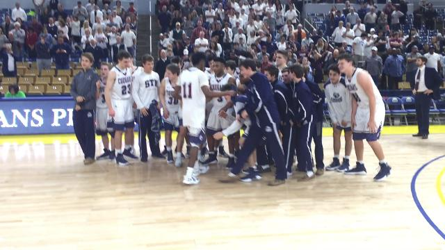 Video of STM being awarded state title trophy