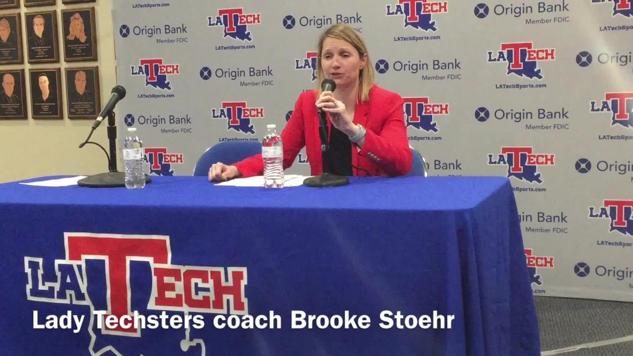 Louisiana Tech women's hoops coach Brooke Stoehr assesses her team's first round WNIT loss to Missouri State.