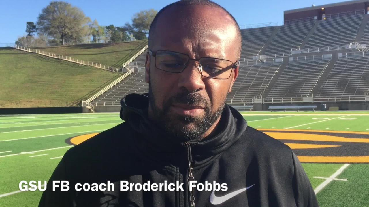 Grambling State football coach Broderick Fobbs shares the program's message for spring practice.