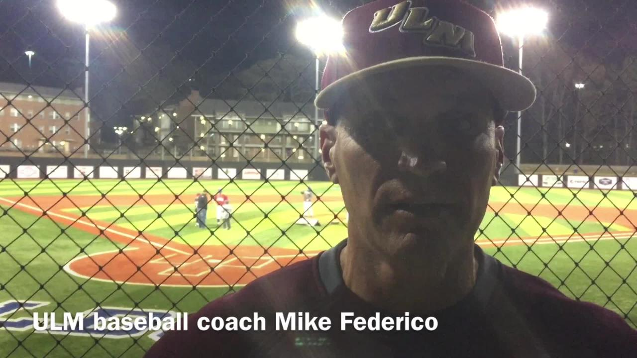ULM head baseball coach Mike Federico discusses way the Warhawks can end its current slump.