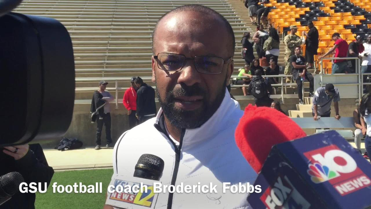 Grambling State head football coach Broderick Fobbs talks Martez Carter's journey from walk-on to performing for NFL Scouts at GSU's Pro Day.