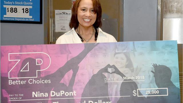 Wal Mart's ZP Challenge winner, Nina DuPont