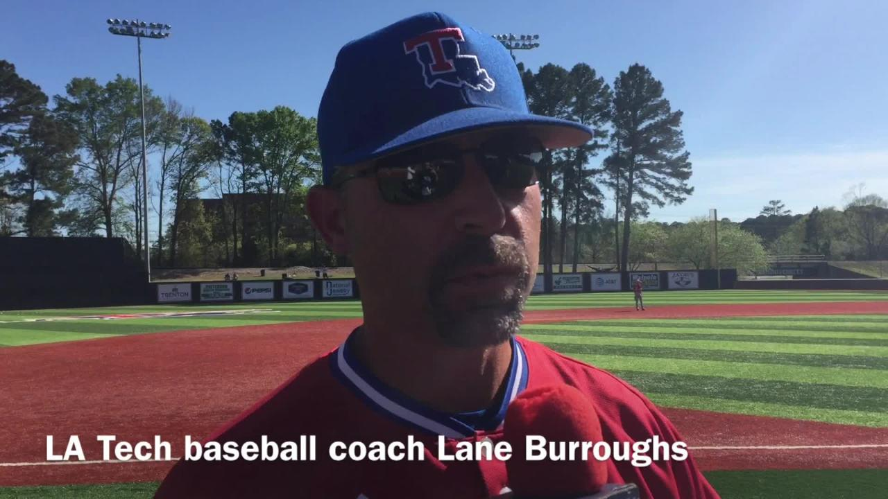 Louisiana Tech head baseball coach Lane Burroughs dissects how his thin bullpen weathered the offensive storm against FIU this weekend.