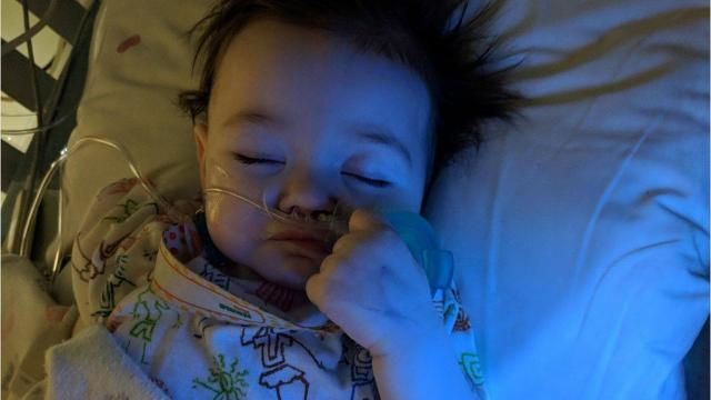 Doctors found a 7 cm by 10 cm mass in Emma Medlin's abdomen. The good news is the cancer isn't aggressive, and the whole family is getting great care at St. Jude. Photos are courtesy Pilots for Patients